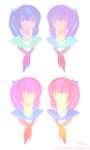 Pastel Schoolgirls by rainbownote