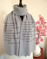 Les Miserables Literary Scarf by LiteraryArtPrints