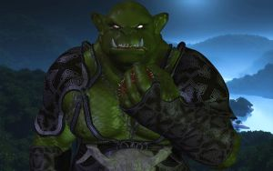 Gormar the giant mega Orc (I will squish you all) by Spino2006