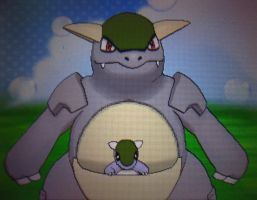 Pokemon XY - Shiny Kanghaskan after 12 eggs!!! by Sapphiresenthiss