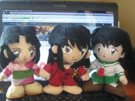 Inuyasha cast plushies from AC by Kogalover-Zoe