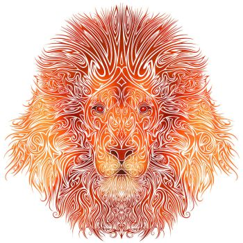 Tribal Lion by Dessins-Fantastiques