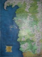The map of the Witcher's world by Madlaen