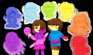 GlitchTale - Betty, Frisk and the 7 souls by Katkrazy339