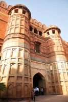 Agra Fort gate 1 by wildplaces