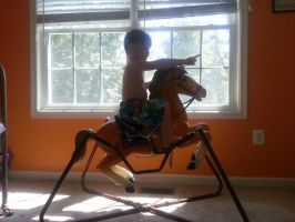 Jacob riding the Vintage Horse 1 by SHBStocks