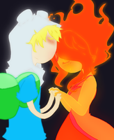 Finn and Flame Princess by taihiwatari