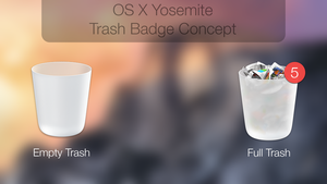 OS X Yosemite Trash Concept by Atopsy