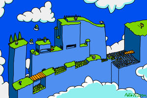 Sonic 2 - Sky High Zone Act 1 by JezMM