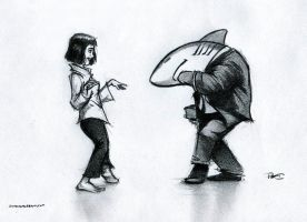 Shark Fiction by RobtheDoodler