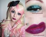 Pretty in pink makeup cute inspired look by cherrybomb-81