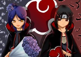 Konan and Itachi by maviboncuk