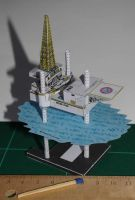 Oil Rig - Papercraft by SarienSpiderDroid
