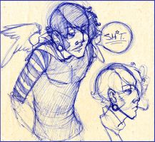 Emo Angel Sketches :D by MsCashew