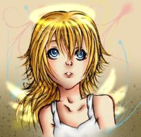 Namine-Look, you're an angel by KoiGirlie