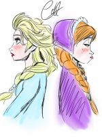 Elsa and Anna by angelsxsmile