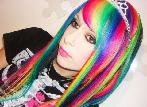 Rainbow Hair Extensions by CandyAcidHair