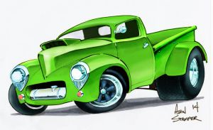 Willys Pick Up - Green by ADStamper