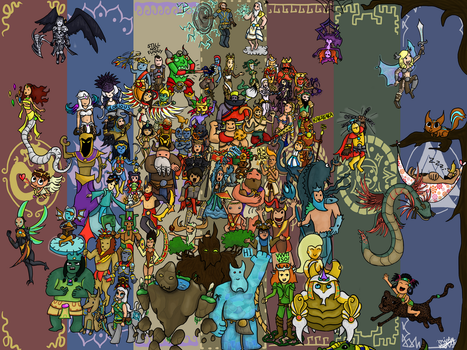 Every Smite god in one picture by misty-skye