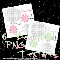 6 PNG Beautiful Textures by JuuustGPB
