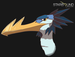 Starbound - Spearbeak by Dragonith