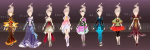Flower fashion collection - Auction (Closed) by fantazyme