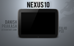 Nexus 10 [psd] by danishprakash