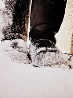 boots in the snow by littlemisspiano