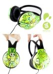 Greeny Headphones by Bobsmade