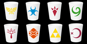 LOZ Symbol Shot Glasses by Enlightenup23