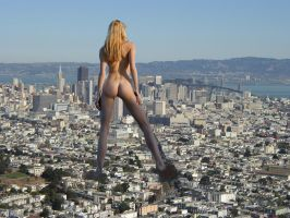 Giantess in the city 2 by lala222221