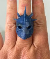 Angel of Retribution ring in wax by Michellerobison