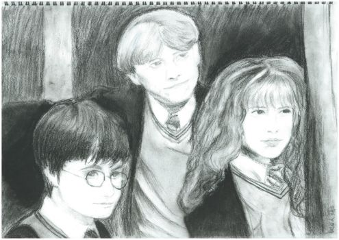 Harry, Ron and Hermione, first year by Tashxfiles