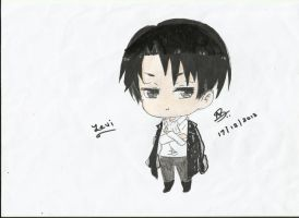Levi chibi by StrawberriNinja