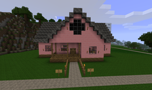 Minecraft: Pink House by CJ64