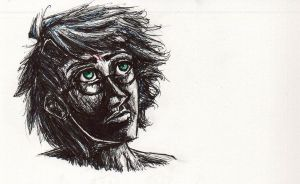 Harry Potter in ink by blindbandit5