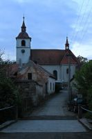 A church in a small town by MilanVopalensky