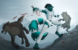 Wolves attack by KanahaniART