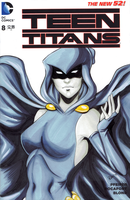 Teen Titans blank variant - Raven by AerianR