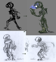 """Bones"" Preliminary Concepts by hale550"