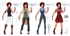 [DGM FC] Kira Extra Outfits by ChikitaWolf