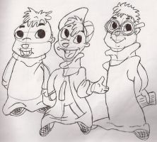 Alvin And The Chipmunks by Rand0mD00dles