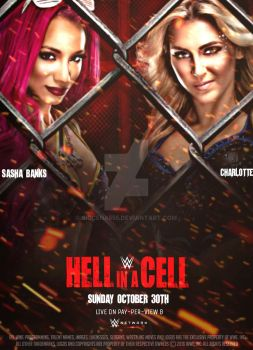 WWE Hell In A Cell Official Poster 2016 by SidCena555