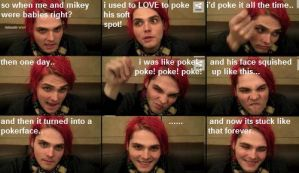 How Mikey's poker-face came about... by The-MCR-Fan-Club