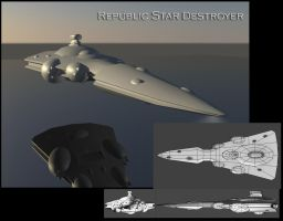 Republic Star Destroyer by Davis--237834