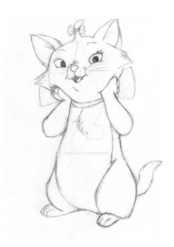 Marie from the Aristocats by Ellie--Jelly