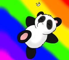 Rainbow panda by amauric