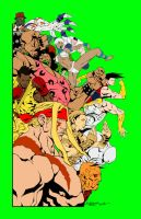 Street Fighter 25th Aniversry - color wip by Micheal-C