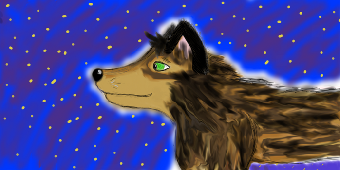 Wolf In The Starlight (Up For Trade/Adoption) by PsychNcisLostLover
