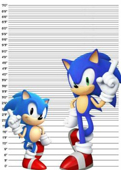 The true height of Sonic the Hedgehog by ChrisLShack1998